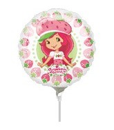 "9"" Mini Balloon (Airfill Only) Strawberry Shortcake"