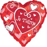"18"" Je T&#39aime Hearts (French)"