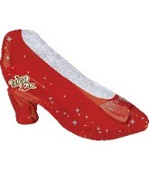"29"" Wizard of Oz Balloon Red Slipper"