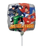 "9"" Mini Balloon (Airfill Only) Justice League"