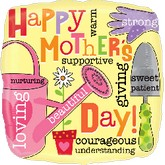 "18"" Happy Mother&#39s Day Messages Balloon"
