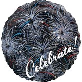 "18"" Holographic Celebrate Fireworks Balloon Packaged"