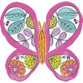 "33"" Pink Green Butterfly Mylar Balloon"