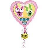 "29"" Jumbo Hearts I Love You Mom Singing"