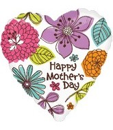 "30"" Happy Mother&#39s Day Beautiful Floral Balloon"