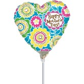 "9"" Aifill Only Mother&#39s Day Graphic Flowers Balloon"