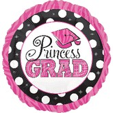 "18"" Princess Grad Dots Balloon"