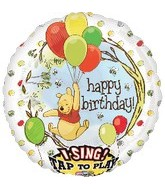 "28"" Sing-A-Tune Winnie Birthday Balloon"