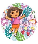 "18"" Dora Clear Holographic Balloon"