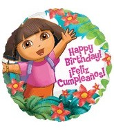 "18"" Dora the Explorer HBD Balloon"