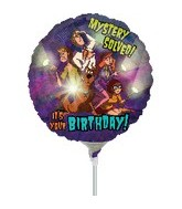 "9"" Mini Balloon (Airfill Only) Scooby Birthday"
