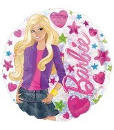 "18"" Barbie Holographic Clear Balloon"