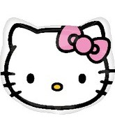 "18"" Hello Kitty Head Mylar Balloon"
