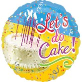 "18"" Let&#39s Do Cake! Mylar Balloon"