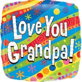 "18"" Colorful Love You Grandpa Balloon"
