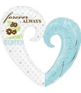 "32"" Jumbo Forever Always Heart Balloon"