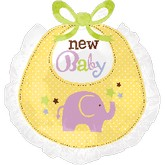 Large Shape New Baby Bib
