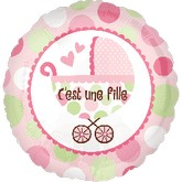 "18"" C&#39est une fille (Baby Girl French)"