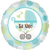 "18"" Es Nino (Boy) Mylar Balloon"
