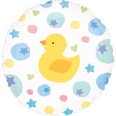 "18"" Ducky Dots Mylar Balloon"