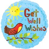 "18"" Get Well Wishes Mylar Balloon"