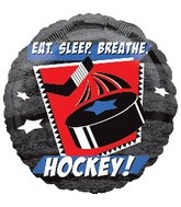 "18"" Eat, Sleep, Breathe, Hockey Balloon"