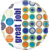 "18"" Great Job Circles Balloon Packaged"