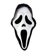 "28"" Jumbo Ghost Face Mask Balloon"