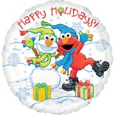 18&#39&#39 Elmo Happy Holidays