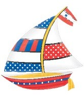 "30"" Jumbo Nautical Sailboat Balloon"