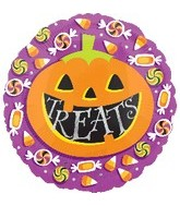 18'' Halloween Pumpkin Treats Balloon