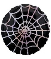 "18"" Spider Web Holographic Balloon"
