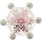 "24"" Red & Green Snowflake"