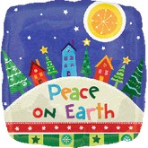 "18"" Peace On Earth Village Balloon"