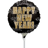 "4"" Airfill New Year Stars Balloon"