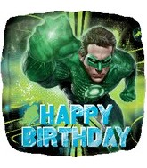 "18"" Happy Birthday Green Lantern Balloon"