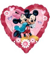 "32"" Mickey And Minnie Heart Shape Balloon"