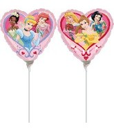 "9"" Airfill Princess Love Heart Shape Balloon"