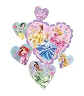 "34"" Princesses Love Heart Balloons"