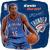 "18"" NBA Kevin Durant Basketball Balloon"