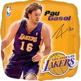 "18"" NBA Pau Gasol Basketball Balloon"