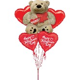 Cuddly Bear Valentine&#39s Day Bouquet