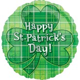 "18"" St. Patricks Day Plaid Balloon"