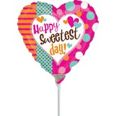 "9"" Airfill Only Sweetest Day Dots Balloon"