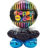 Bright New Year Balloon Centerpiece