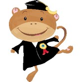 Graduation Monkey Shape Balloon
