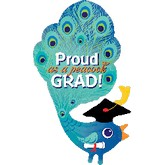 Proud as a Peacock Grad Balloon