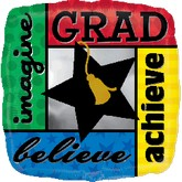 "18"" Bold Grad Imagine, Believe, Achieve"