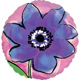 "18"" Painted Purple Flower"