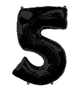 "34"" Anagram Brand Black Number 5 Balloon"